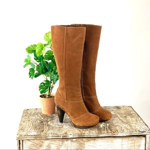 Seychelles Brown Suede Clog Boots